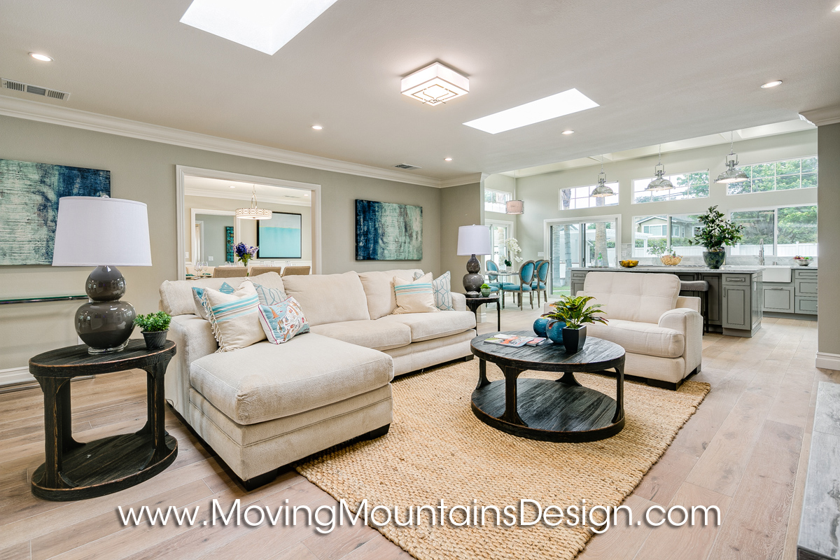 Arcadia Family Room home staging