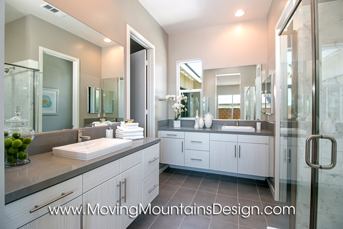 Master bath moving mountains design los angeles real for Model bathrooms pictures