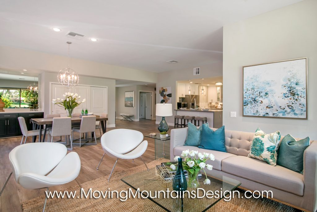 Living Room in Rancho Mirage Home Staging