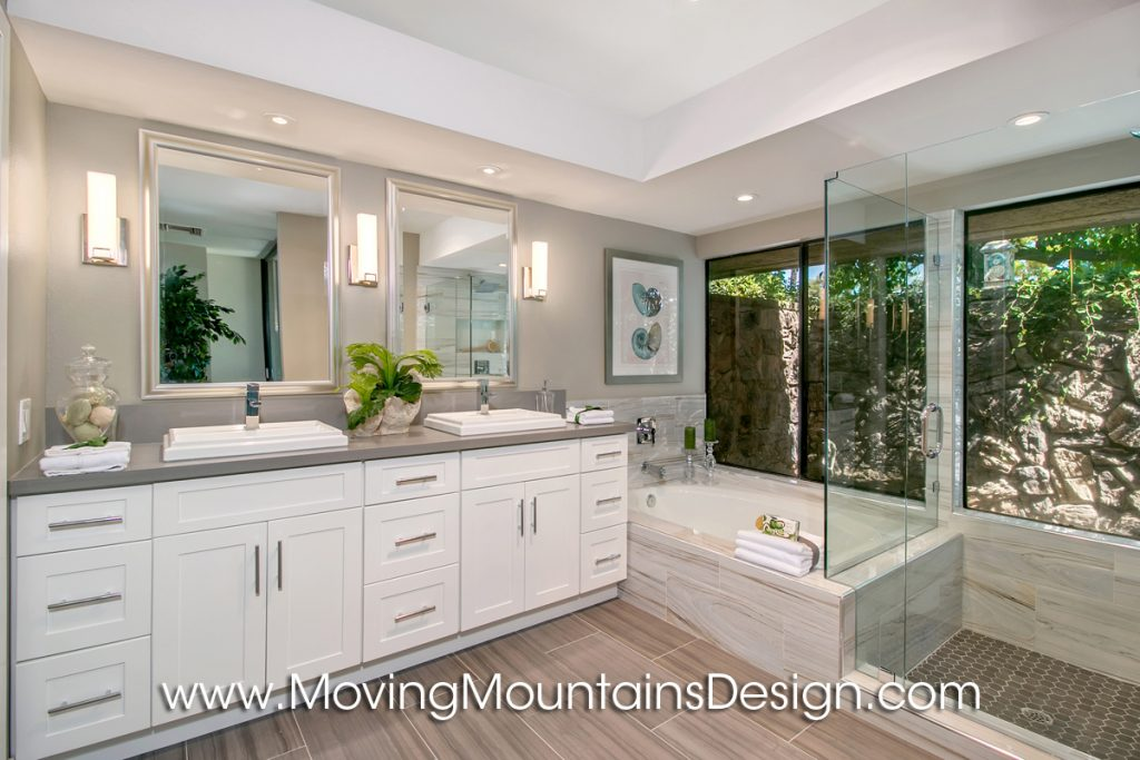 Rancho Mirage home staging master bath