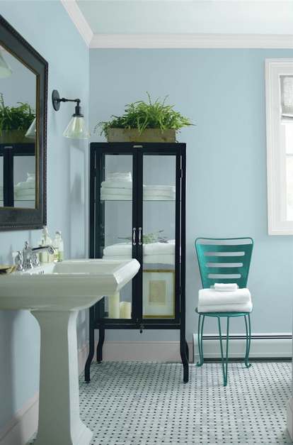 Best blue paint color for bathroom