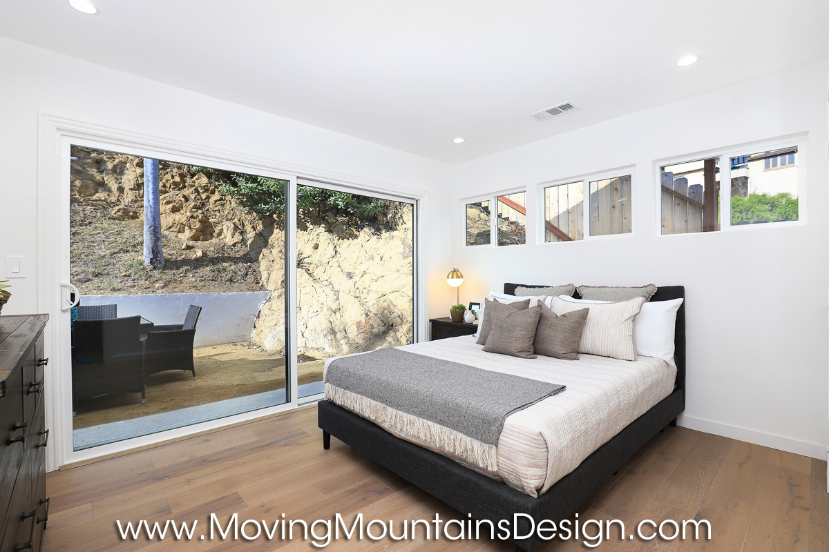 Hollywood Hills home staging guest bedroom