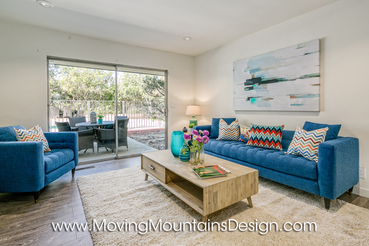 Pasadena Home Staging MCM Family Room