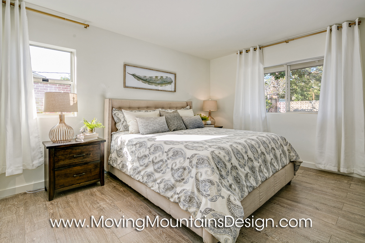 Guest bedroom Pasadena home staging