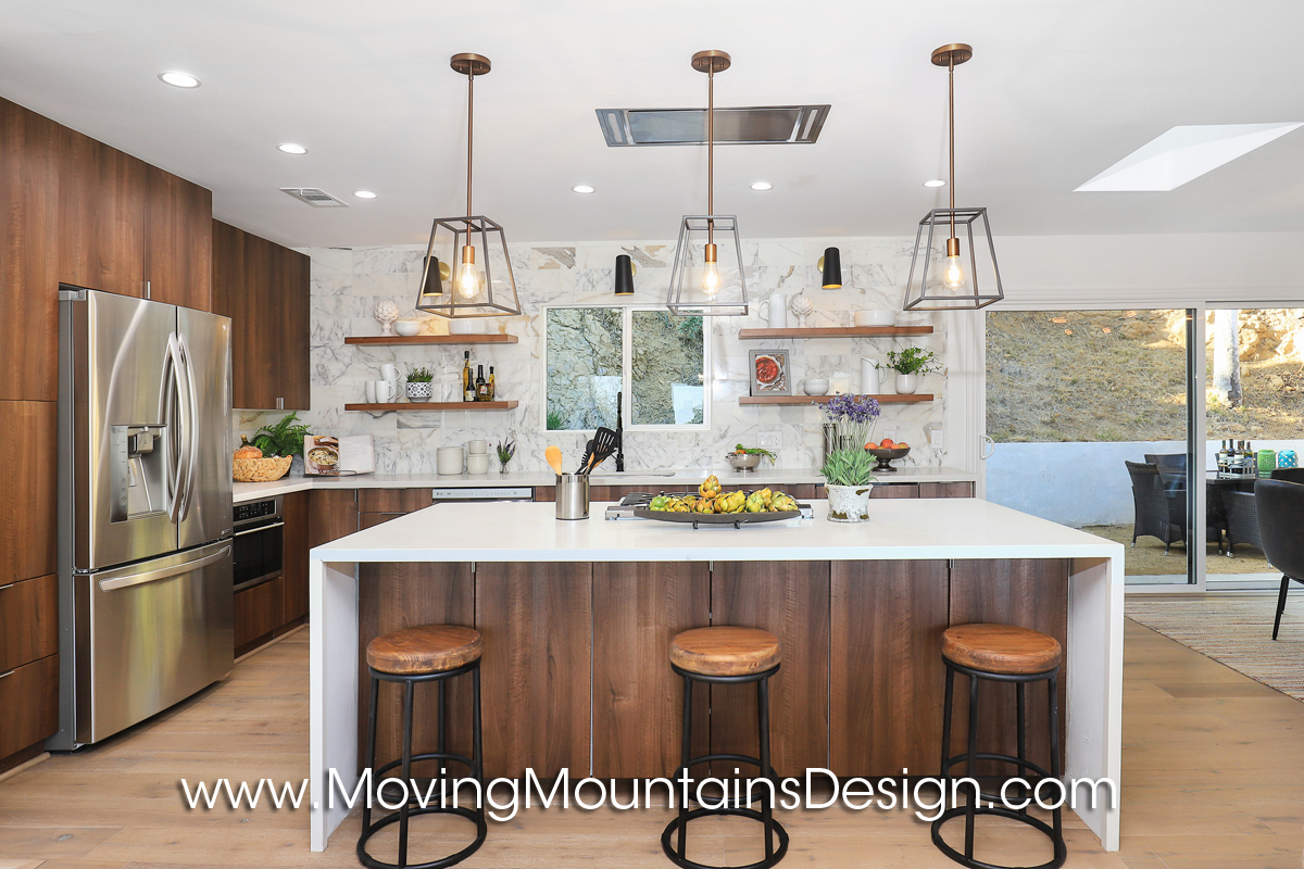 Kitchen in Hollywood Hills Home staging