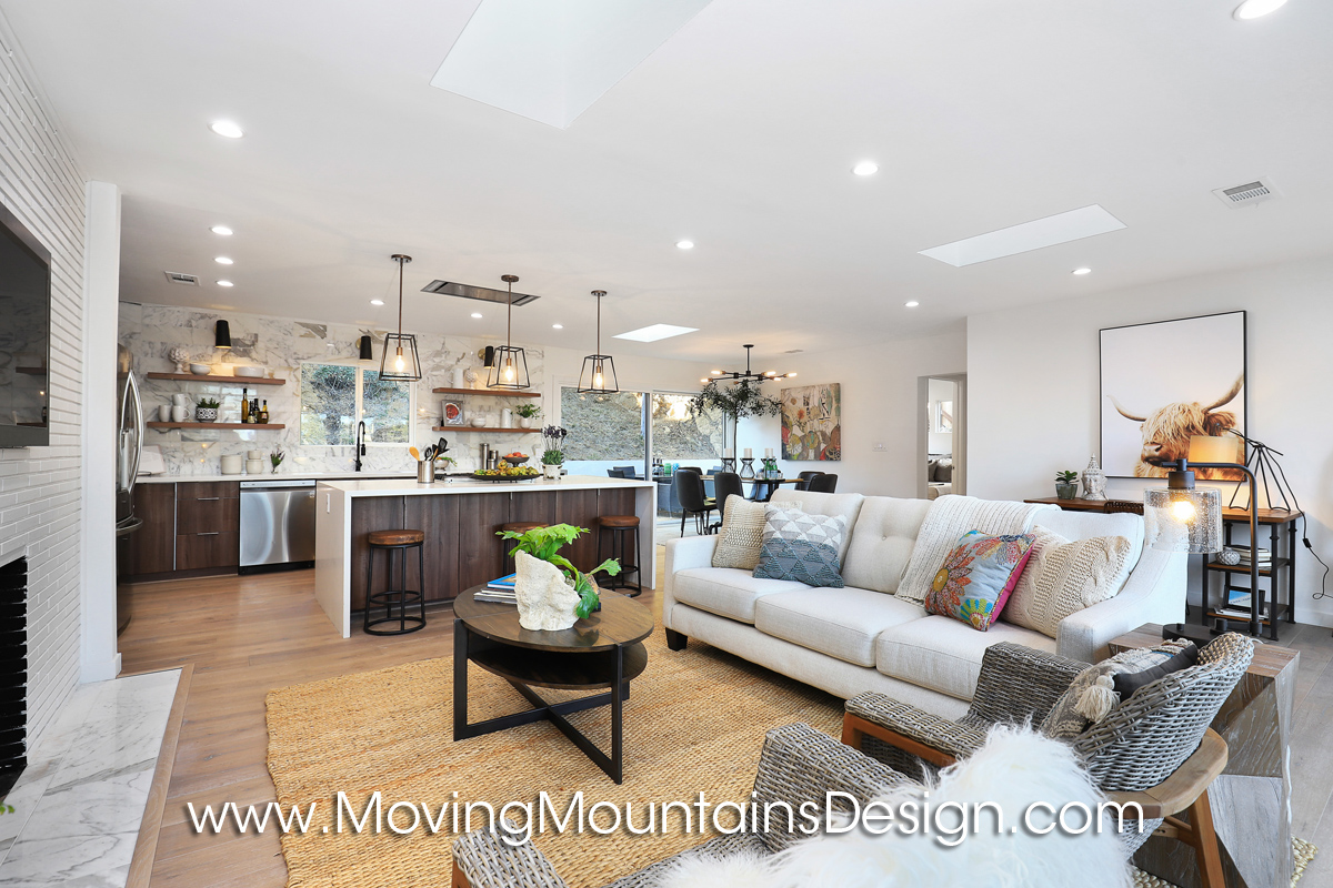 Living Room In Hollywood Hills Home Staging