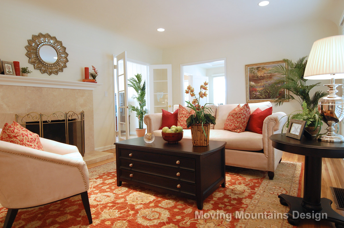 Valley Village Home Staging Living Room