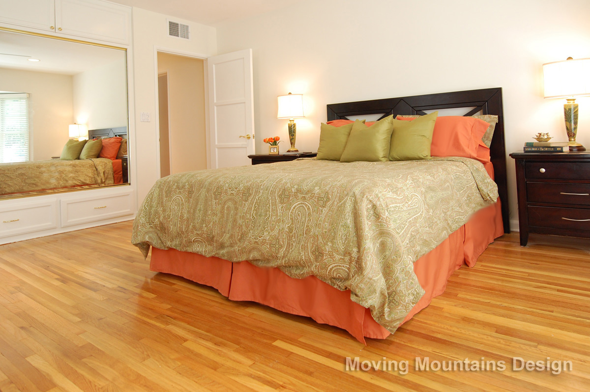 Valley Village Home Staging Master Bedroom