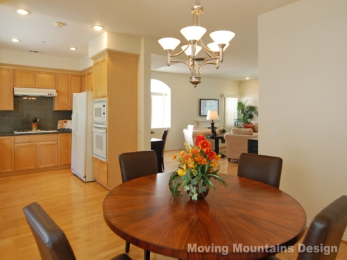 Arcadia Townhome Dining Room House Staging