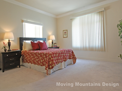 Home Staging Arcadia Condo Master Bedroom
