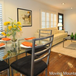 Pasadena Contemporary Home Staging Diningroom