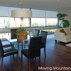 Century City Contemporary Condo Staging Dining Room