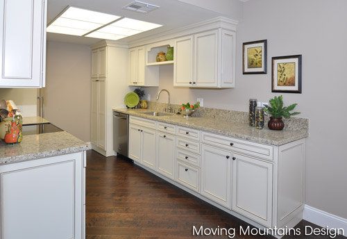 Bel Air Los Angeles house staging of a remodeled kitchen