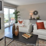 Bel Air Los Angeles house staging livingroom