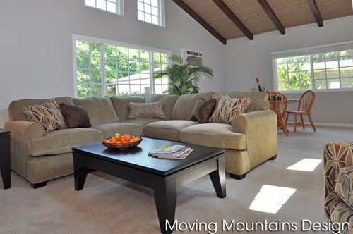 San Gabriel Family Room home staging