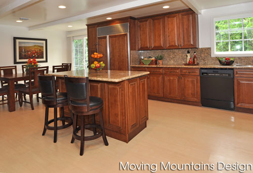 Remodeled kitchen in luxury Arcadia home after staging
