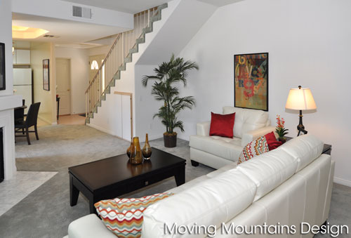 North Hollywood Condo Staging Livingroom