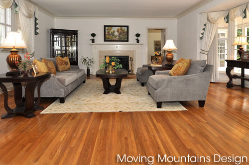 Living room in luxury Arcadia home staging