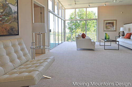 San Marino home staging mid-century modern living room