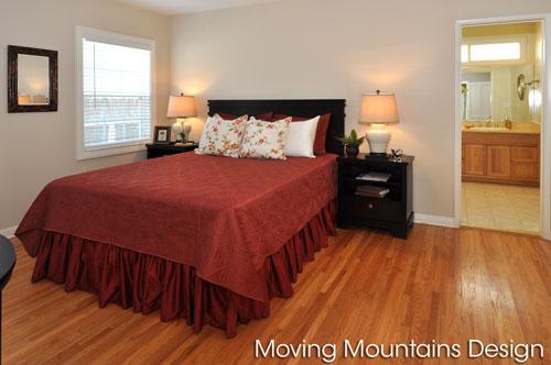 San Gabriel Master Bedroom home staging