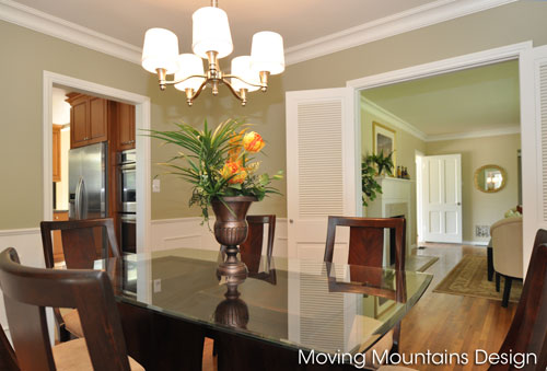 Dining room after staging San Gabriel home for sale