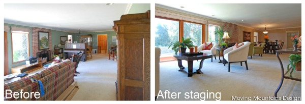 Before and After Los Angeles home staging
