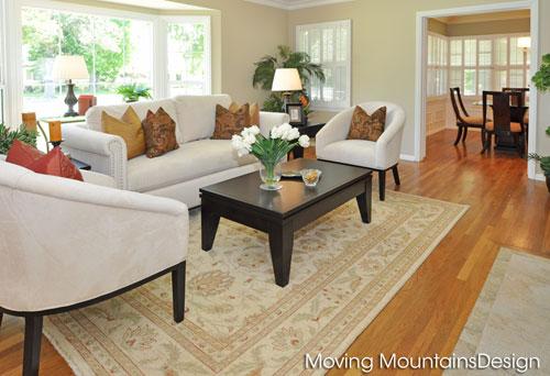 Living Room after staging San Gabriel home for sale