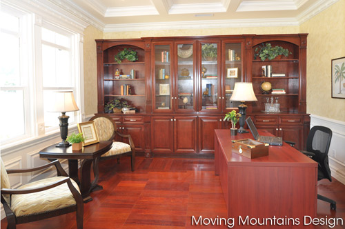 Home office after home staging by Arcadia Home Staging company