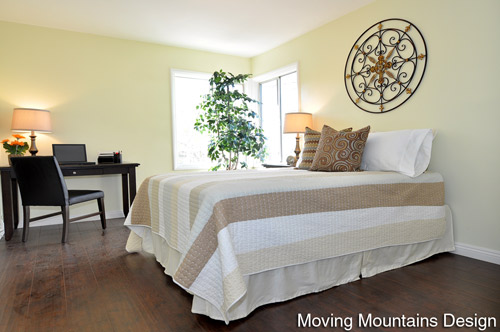 Altadena Real Estate Staging Guest Bedroom by Pasadena Home Stagers