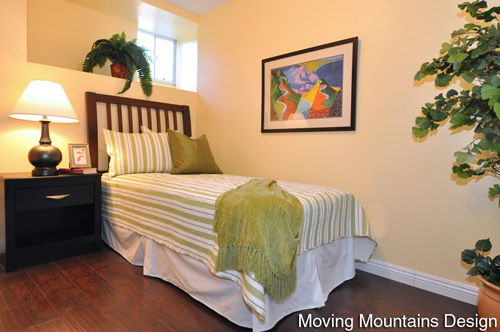 Altadena Real Estate Staging Bedroom by Pasadena Home Stagers