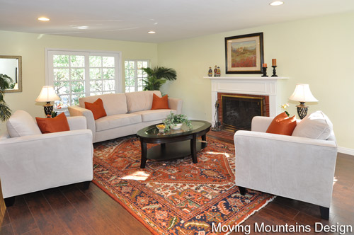 Altadena Real Estate Staging Living Room by Moving Mountains Design