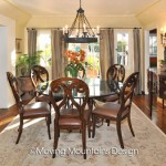 Los Angeles home staging Dining Room