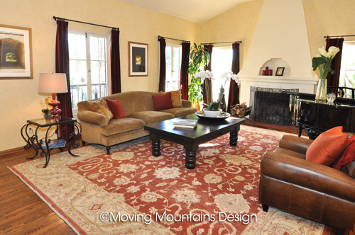 Los Angeles Living Room After Home Staging