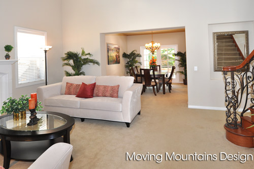 Rosemead Home Staging Living Room and Dining Room