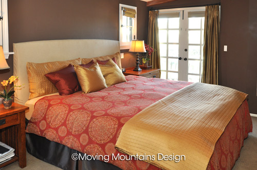 Los Angeles home staging Master Bedroom
