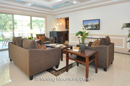 Home Staging in Arcadia Family Room home staging