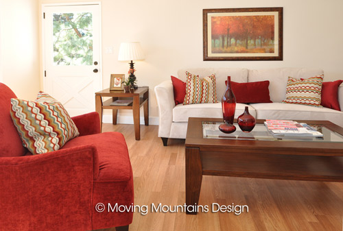 La Crescenta house staging living room