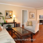 Whittier home staging for Real Estate Investors Living Room and Family Room