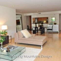 Contemporary Los Angeles Condo Home Staging Open Floor Plan