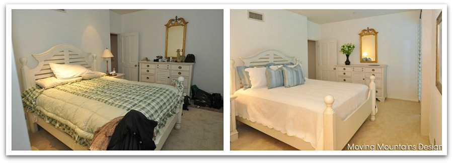Pasadena Condo Bedroom before and after house staging