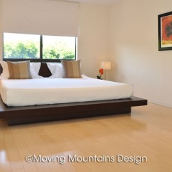 Contemporary LA Condo Home Staging Master Bedroom