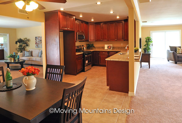 Open floorplan West Covina home staging