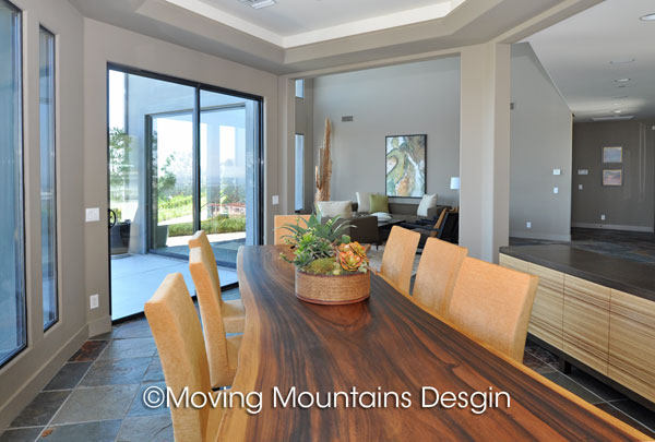 Contemporary dining room home staging in Pasadena