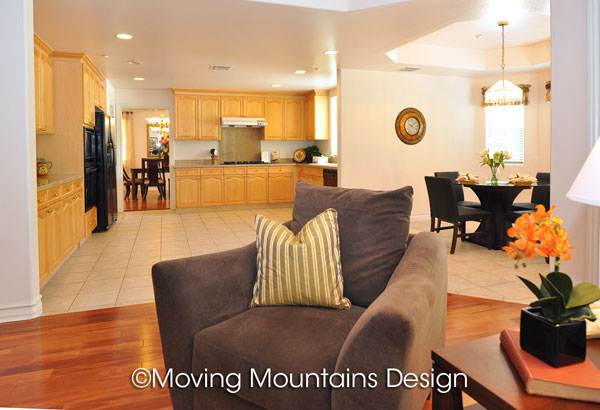 Arcadia house for sale family room and kitchen home staging