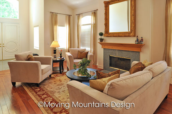 Arcadia house for sale living room after home staging