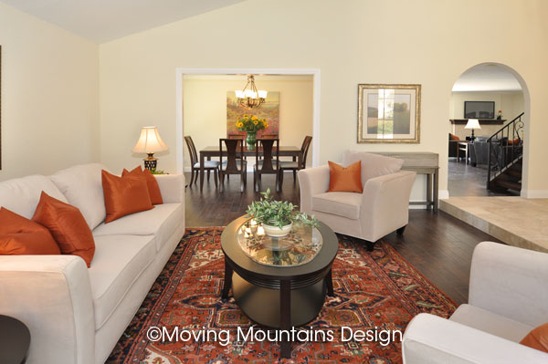 Livingroom Home Staging in San Clemente