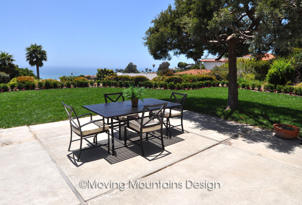 Patio staging in San Clemente