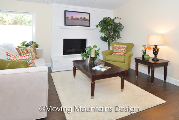 Los Angeles Home Staging Project in La Mirada Living Room
