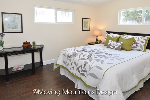 Los Angeles House Staging Project in La Mirada Master Bedroom