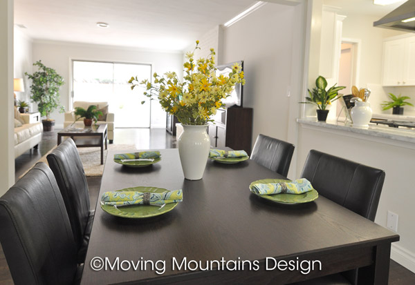 Los Angeles Home Staging Van Nuys Dining Room after staging